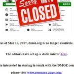 Dmoz se había convertido hasta hace unos años, en el directorio de páginas webs mas importante de Internet, y era usado por Google para su buscador