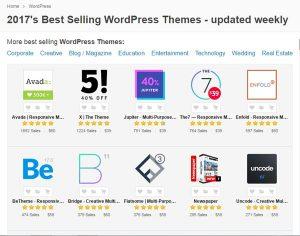 Para los amantes de WordPress, Themeforest será uno de los directorios de plugins y Themes de pago más utilizado para crear nuestra página web.