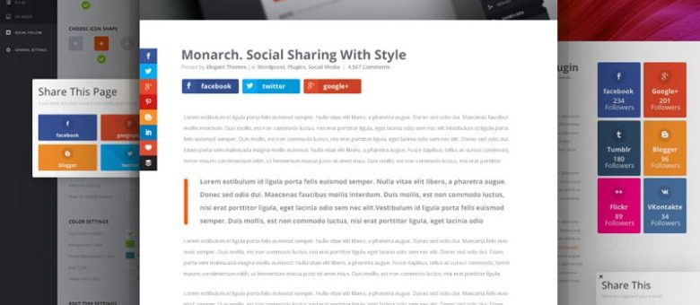 Monarch comparte en Redes Sociales en WordPress