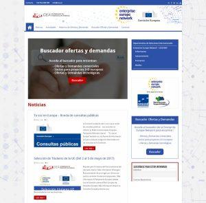 Diseño Página Web Portal Relaciones Internacional de la CEA (EEN CEA)