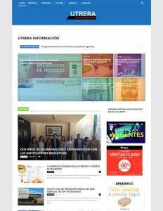 Diseño Página Web Portal de Noticias Utrera Información